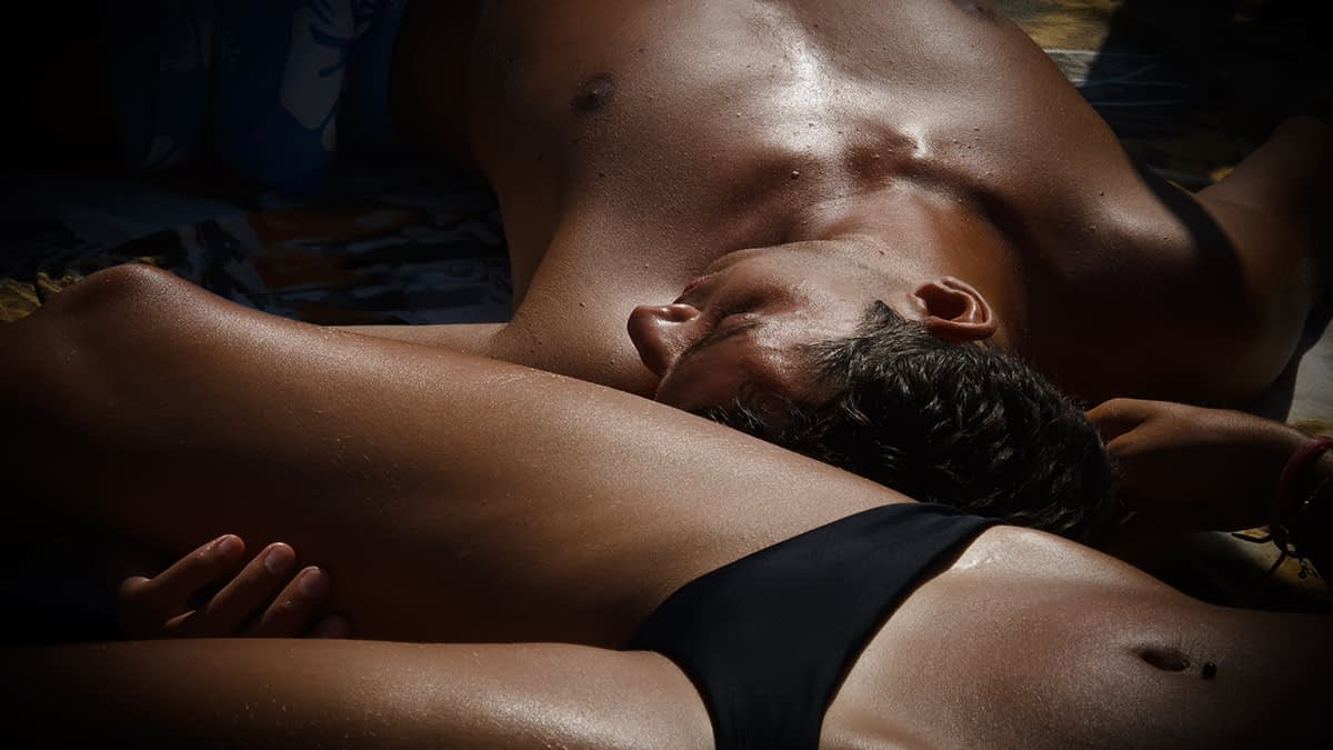Nude couple for aftercare